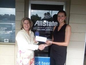 Julie Jakubek of Allstate and Christina Calio of SMFBA Development Department